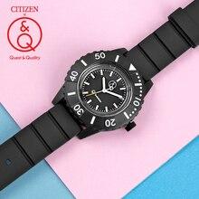 Citizen Q&Q watch men Set top Luxury Brand Waterproof Sport Quartz solar Watch Neutral military diving Relogio