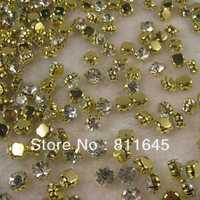 Ss38 8 MM 288 pcs de ouro de cristal Spacer Sew em garra de strass Fit frete grátis