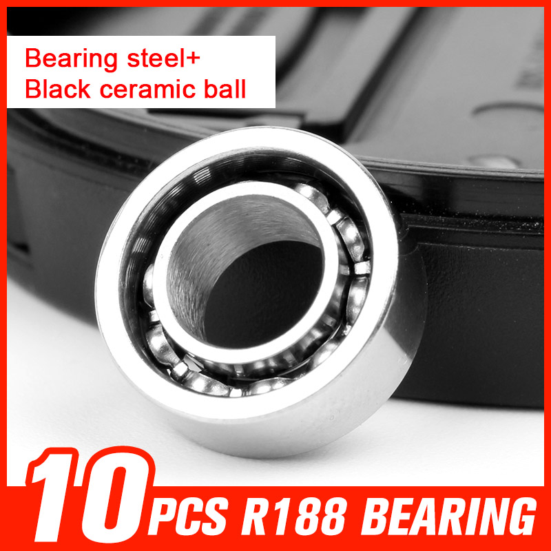 10pcs R188 Bearing Steel Black Ceramic Ball Bearings for LED Bluetooth Speaker Music Fidget Fingertip Gyro Tool Accessories смарт часы samsung gear s2 black
