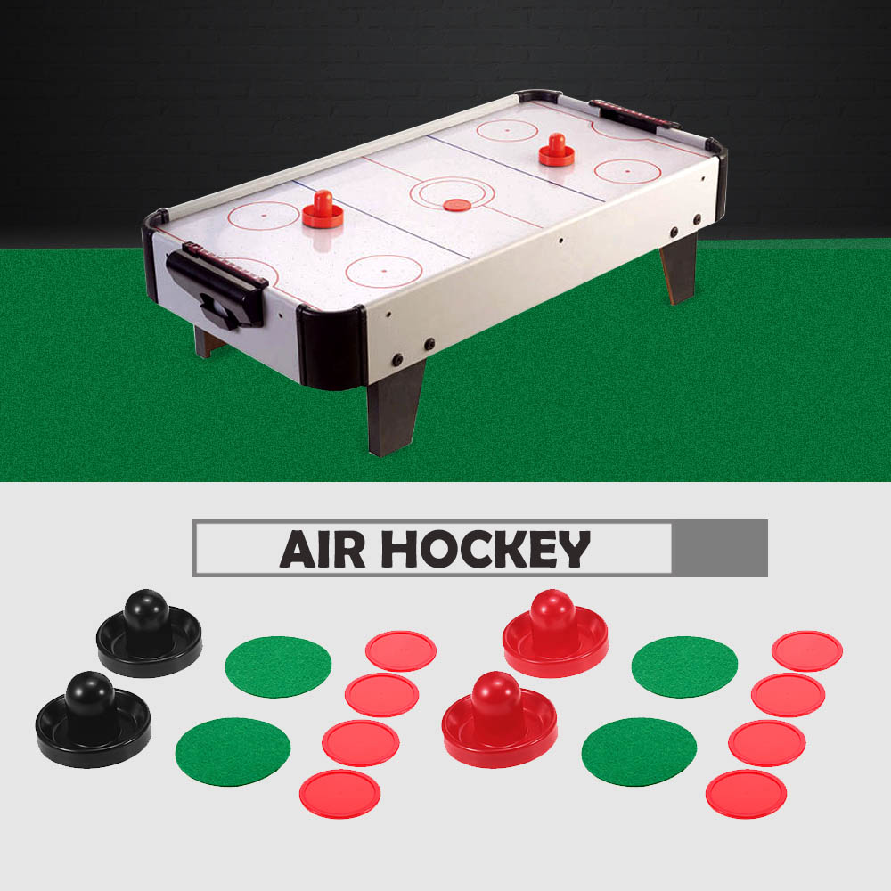 76mm / 96mm Plastic Mallet Pusher Puck Felt Slider Pusher Table Games Replacement Accessories Goalies 1 Set Air Hockey