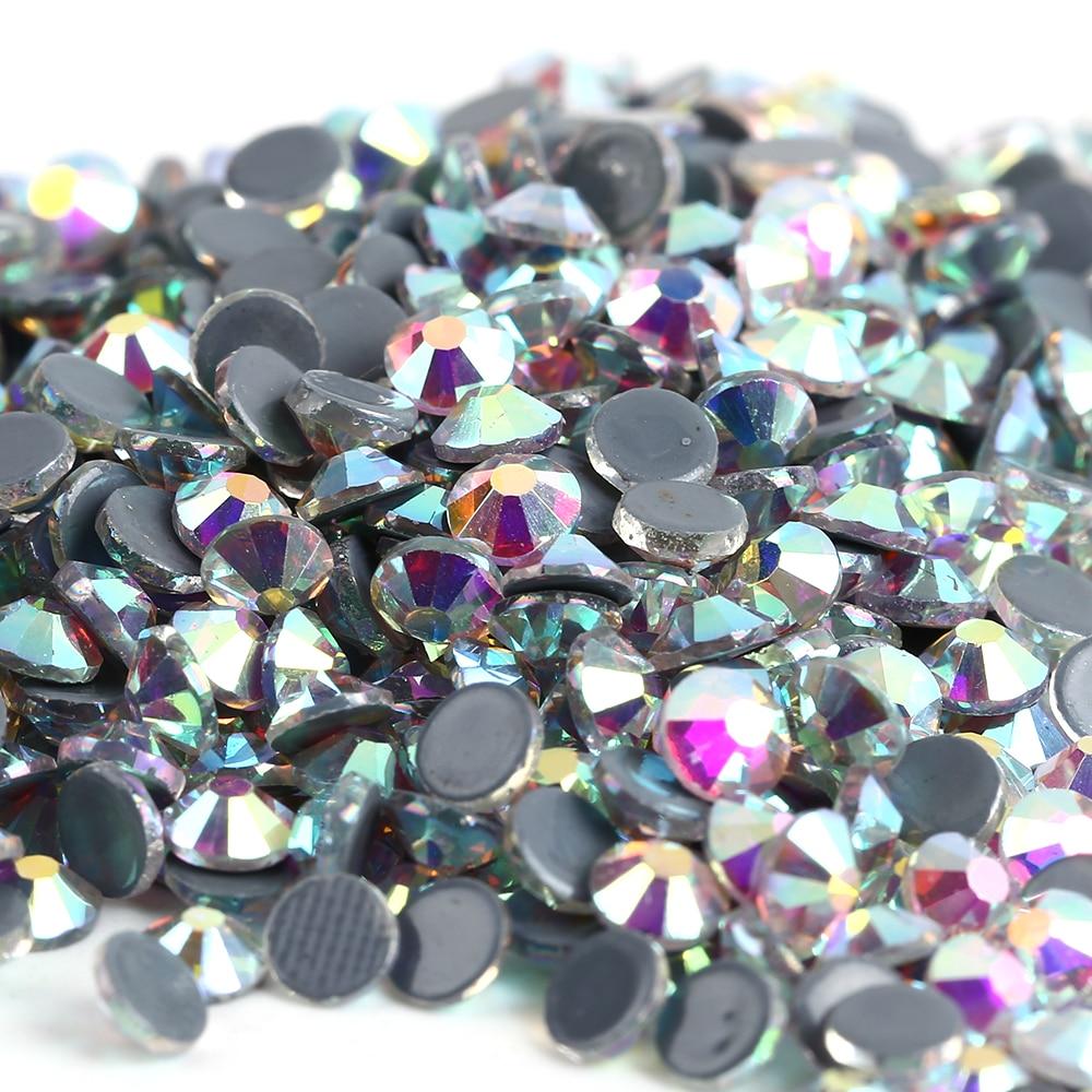 Free Shipping! 288pcs/Lot, ss30 (6.3-6.5mm) High Quality DMC Crystal AB Iron On Rhinestones / Hot fix Rhinestones 1440pcs lot ss16 3 8 4 0mm high quality dmc jet black iron on rhinestones hot fix rhinestones