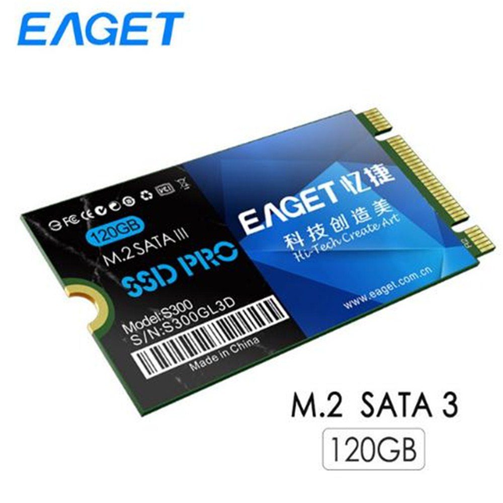 EAGET S300 120GB Internal Solid Drive SSD SATA III Pro M.2 Shockproof Disk High Speed HD Hard Drive For Laptop Desktop
