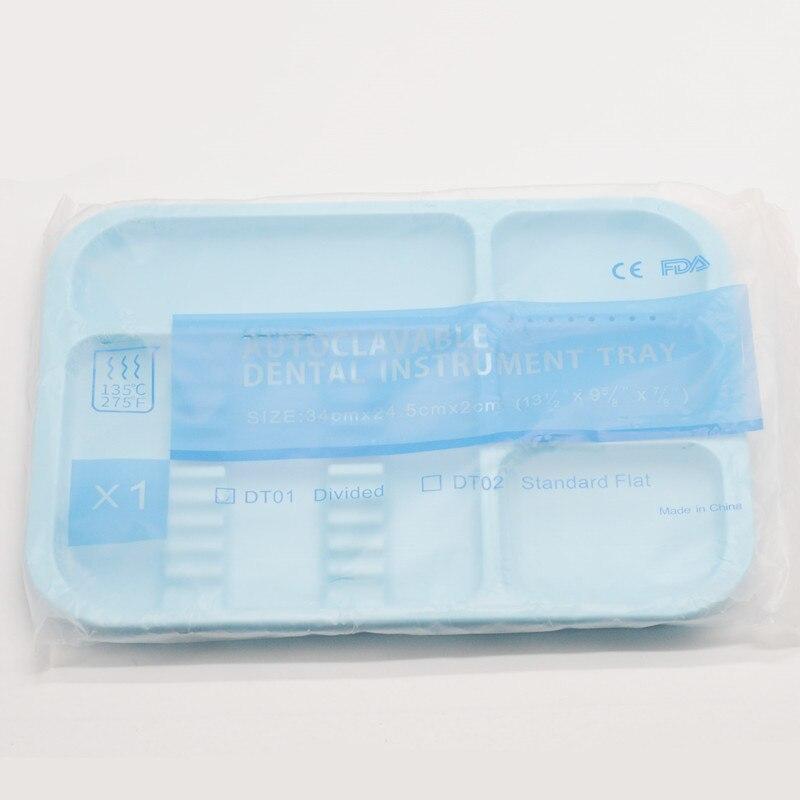 1 шт. стоматологическая клиника пункт разделенный отдельный тип лоток пластиковый инструмент Автоклавный - Цвет: 1Pcs Blue