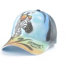 цена на Fashion Women Cap Animal Baseball Caps 100% Hand drawn 3D Cartoon Baseball Hats Streetwear Hip Hop Snapback Hat