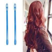18 pièces/ensemble 30 cm plastique Long diamètre 2.5 cm magique bigoudi cheveux magique rouleau spirale boucles utilisation facile