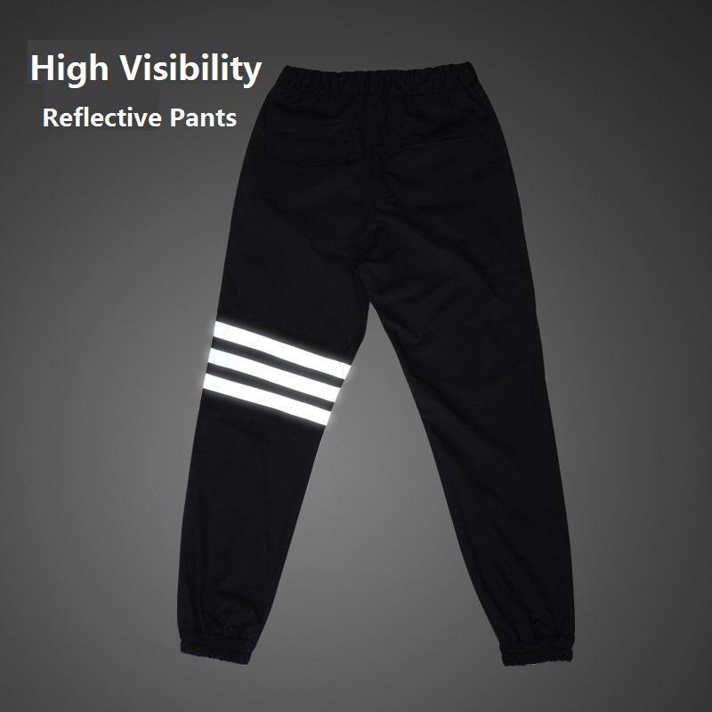 Sallei high quality street 3M reflective pants hiphop joggerpants casual pants overalls