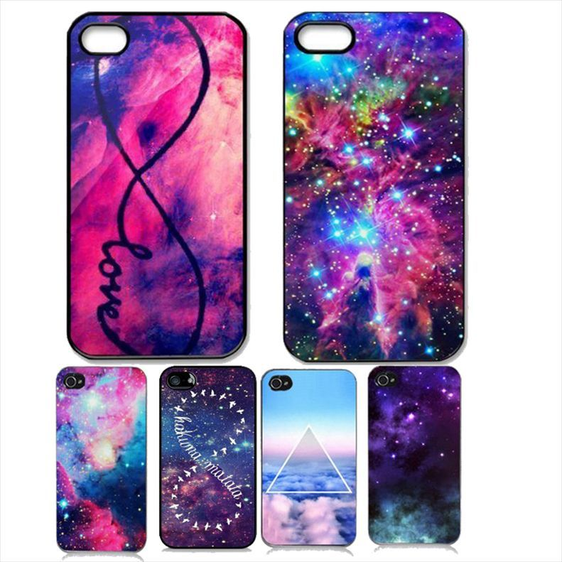 Pattern Galaxy Space Universe Design Dream Style Hard Plastic Back Phone Case Cover iPhone 4 4S 5 5S SE - ShoppingCenter store