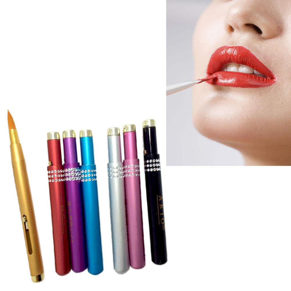 Brand New Hot Selling High Quality 1pc Nylon Fiber Makeup Brushes Aluminum Portable Flexible Lip Brush Tool Wholesale Retail Numerous In Variety