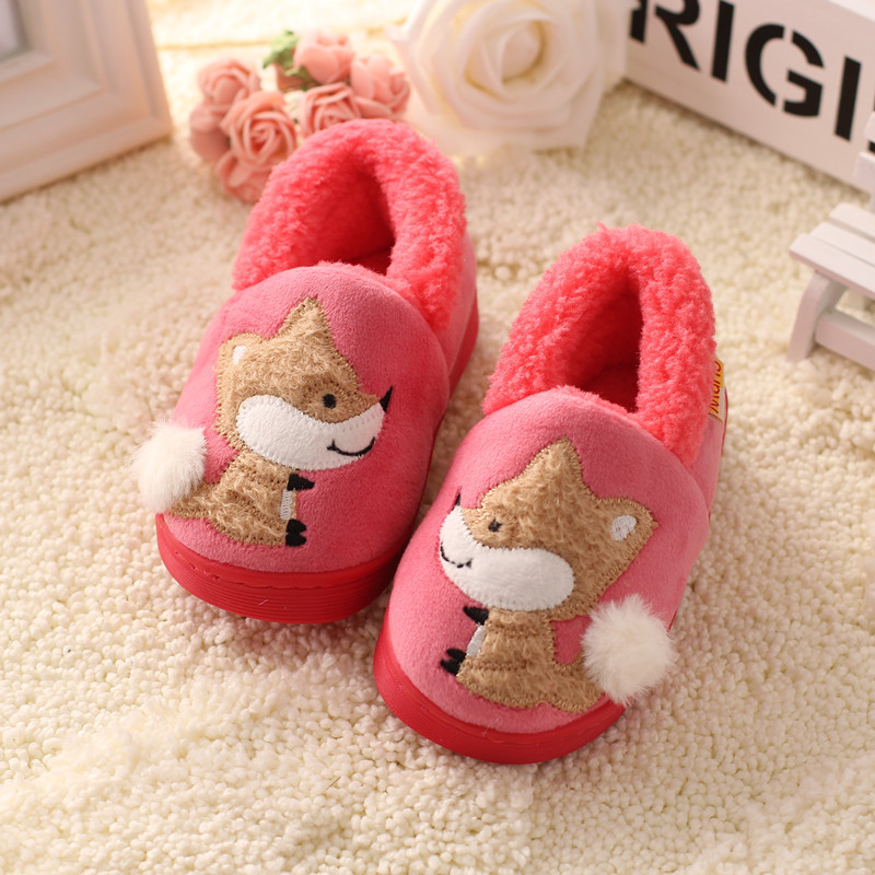 Winter Kids Slippers Boys Girls Household Cotton Shoes Cartoon ...