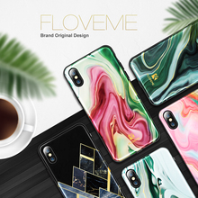 FLOVEME Agate Marble Patterned Case for iPhone 7 7Plus 8 8Plus X/Xs