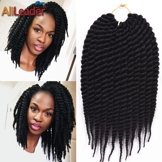 12 Inch Box Braids Crochet Braids Synthetic Hair Extensions 6 Colors ...