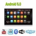 Чистая Android 6.0 Полный Сенсорный ПК Автомобиля Tablet двойной 2 din Аудио 7 ''GPS Navi Стерео Радио Без DVD mp3-плеер Bluetooth USB
