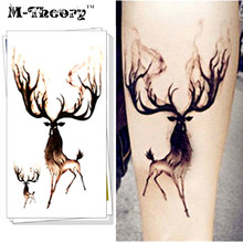 M-Theory Temporary Tattoos Body Arts Small Bucks Flash Tatoos Sticker 10.5x6cm Sexy Waterproof Dress Bikini Swimsuit Makeup Tool