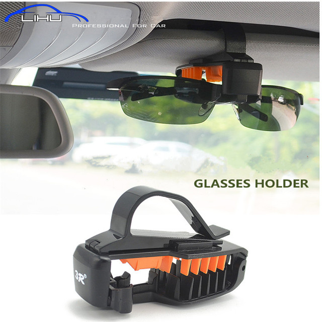 2017 NEW Car Styling Sunglasses Eyeglasses Glasses Holder Case Auto Sunvisor Accesories