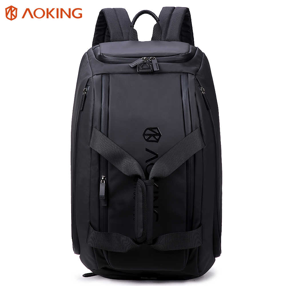 Aoking 32L Waterproof Travel Backpack With Shoes Compartment & Adjustable Buckle Multiple Backpack Large Capacity Laptop Handbag