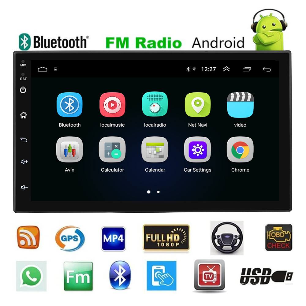 Android 8.1 Car Radio Multimedia Player Bluetooth WiFi GPS Navigator Autoradio 2DIN 7 Touchscreen FM Radio Player SWC DAB TPMSAndroid 8.1 Car Radio Multimedia Player Bluetooth WiFi GPS Navigator Autoradio 2DIN 7 Touchscreen FM Radio Player SWC DAB TPMS