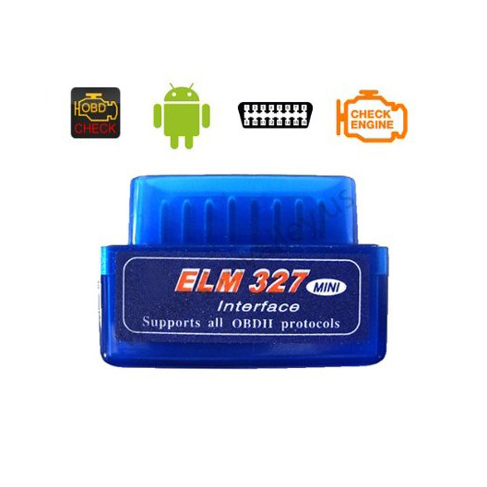 Super Mini Elm327 Car Scanner Bluetooth OBD2 V1.5 Elm 327 V 1.5 Android Adapter OBD 2 Elm-327 OBDII Auto Diagnostic Tool Scanner