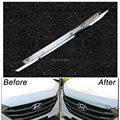 ACCESSORIES FIT FOR 2015 2016 HYUNDAI TUCSON TL CHROME FRONT HOOD BONNET GRILL LIP MOLDING COVER TRIM BAR GARNISH MESH