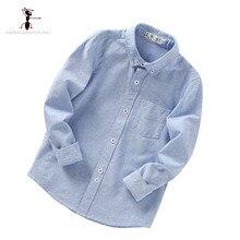 GFMY 2017 Nouvelle Arrivée Turn-down Collar Haute Qualité Enfants Plein Manches Chemises Blouses pour Kid Solide Vêtements 201701