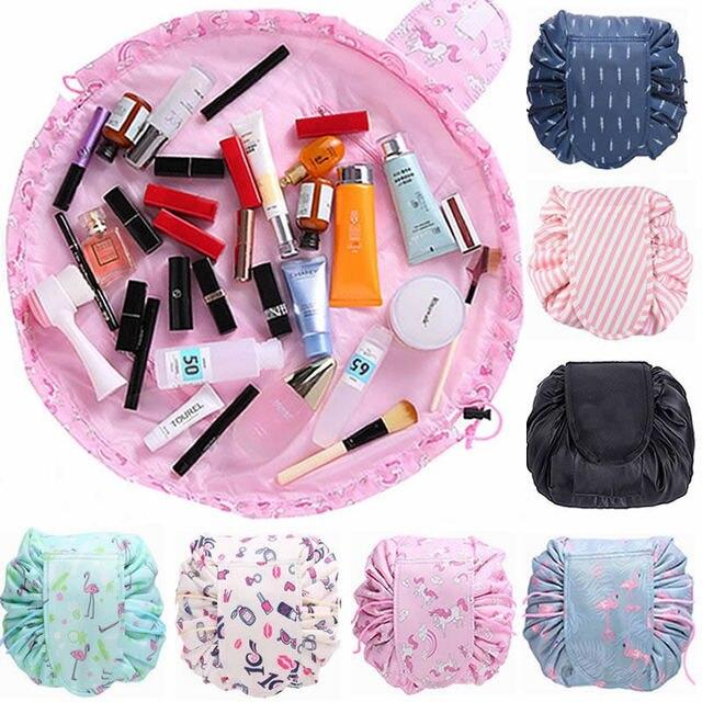 beadcba31cf3 Animal Flamingo Cosmetic Bag Professional Drawstring Makeup Case Women  Travel Make Up Organizer Storage Pouch Toiletry Wash Kit