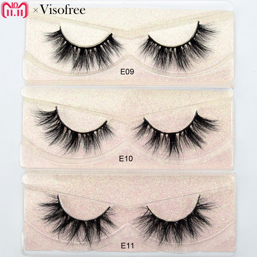 Visofree Mink Lashes 3D Mink Eyelashes 100% Cruelty free Lashes Handmade Reusable Natural Eyelashes Popular False Lashes Makeup цена