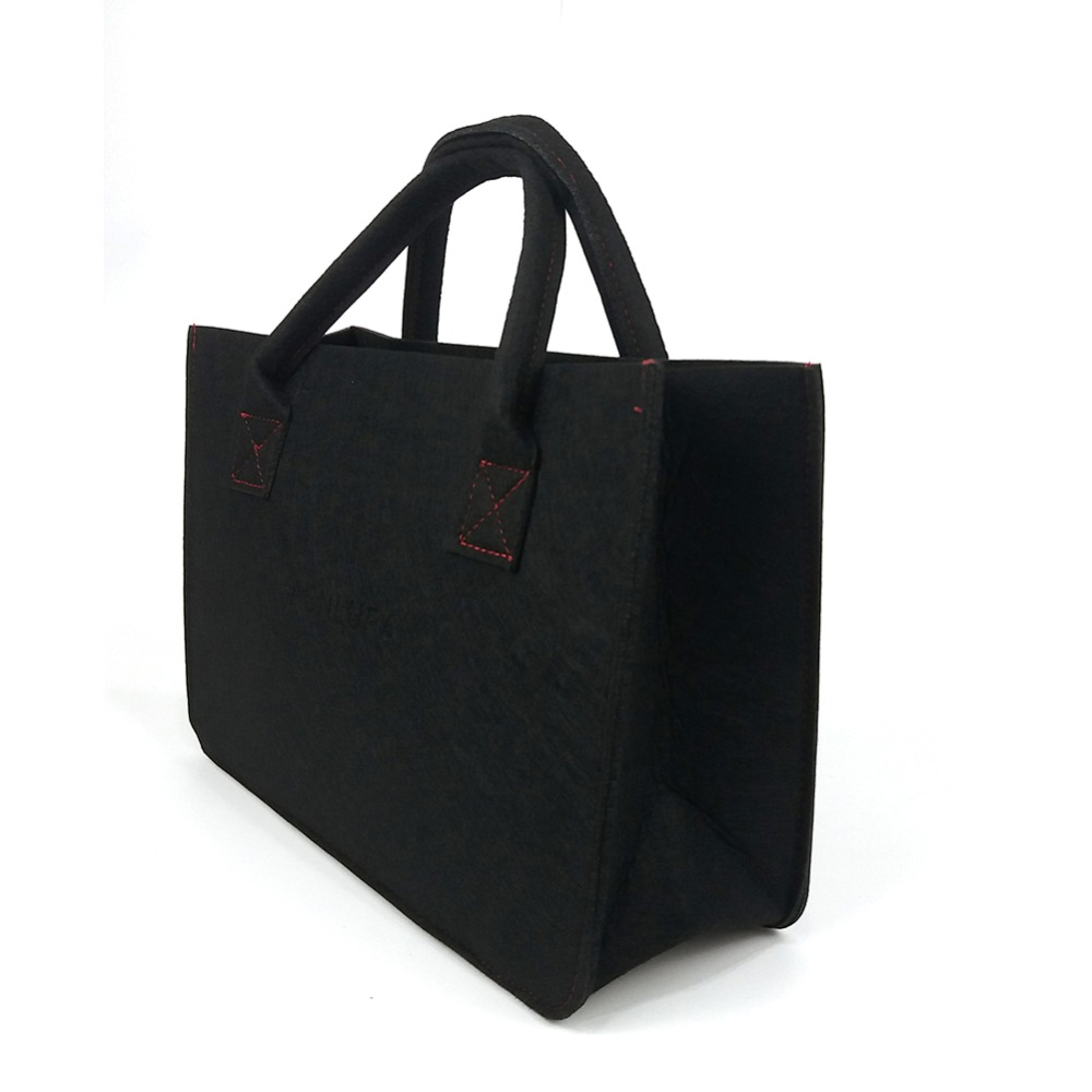 Felt small tote bag for women shopping bag black top handle bag eco-material making environment friendly Сумка