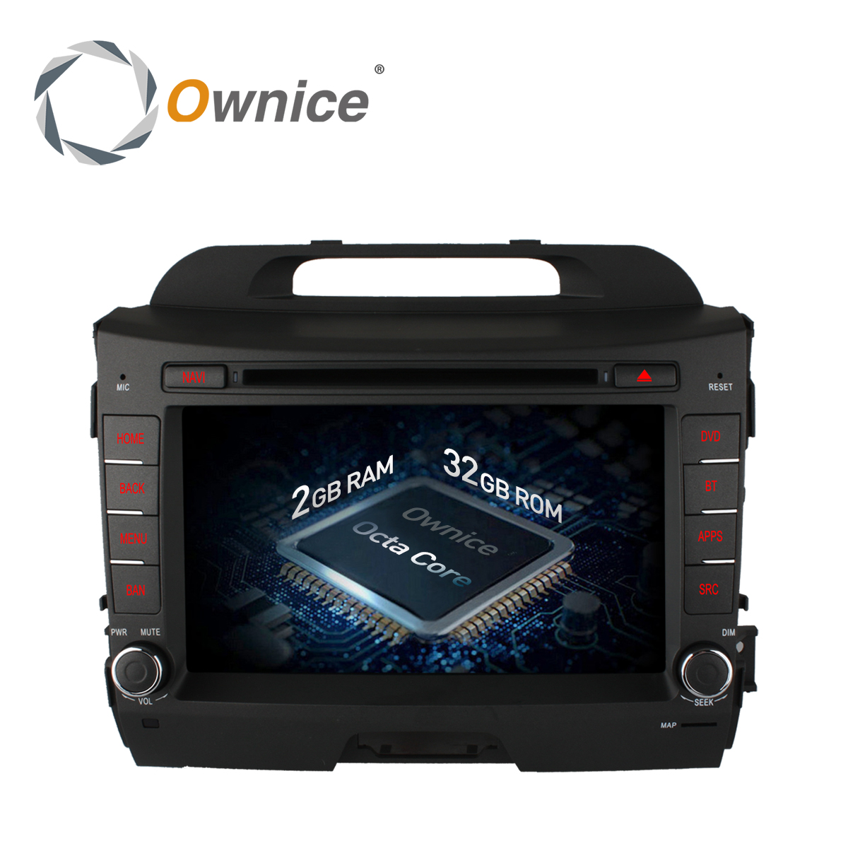 Ownice C500 8 Core For KIA sportage r 2011 2015 android 6.0 car dvd gps player 2 din With radio video wifi 4G 2GB RAM 32GB ROM