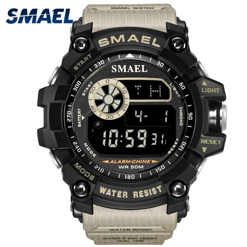 Herren Sportuhren Berühmte Marke Luxus männer Militär Armee Beobachten Digitale FÜHRTE Elektronische Wasserdicht Männer Armbanduhren Männlich SMAEL