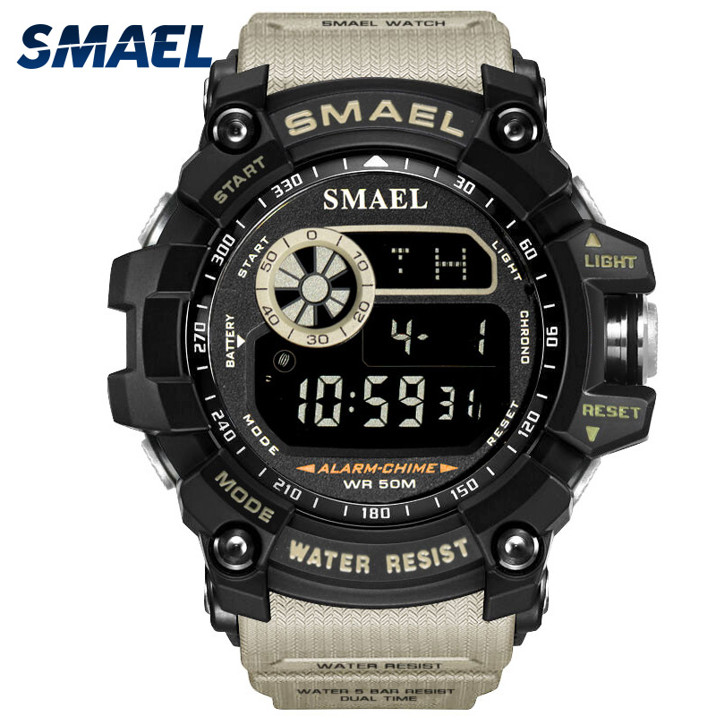 Mens Sports Watches Famous Brand Luxury Men's Military Army Watch Digital LED Electronic Waterproof Men Wristwatches Male SMAEL