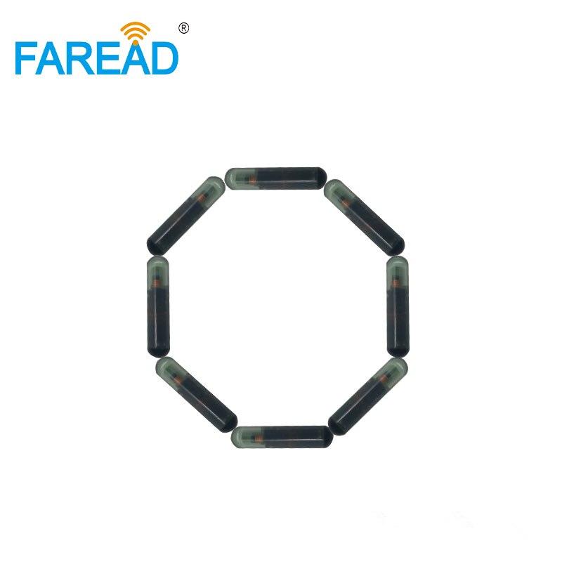X10pcs  ISO Standard Microchip 134.2Khz 4*22mm EM4305 Glass Tag