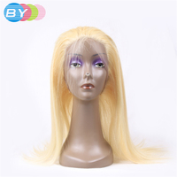 2018 Hot Sale Sale By Hair 100 Human 360 Lace Frontal Closure 613 Blonde Color 10