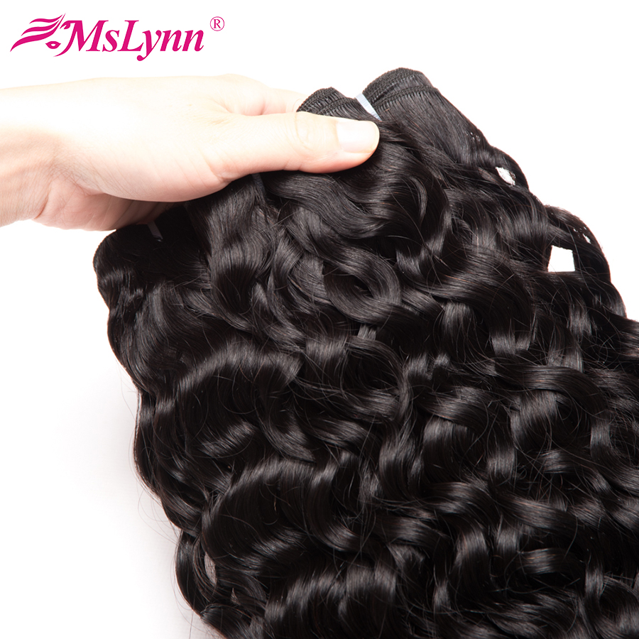 Mslynn Hair Indian Water Wave Bundles 3 Or 4 Bundle Deals 100% Human Hair Bundles 10-28 Inch  Available Remy Hair