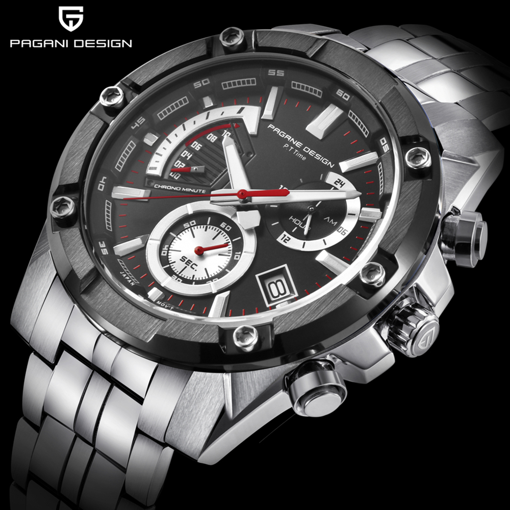 PAGANI 2018 New Watch Men Top Brand Luxury Military Army Sports Casual Waterproof Mens Watches Quartz Stainless Steel Wristwatch