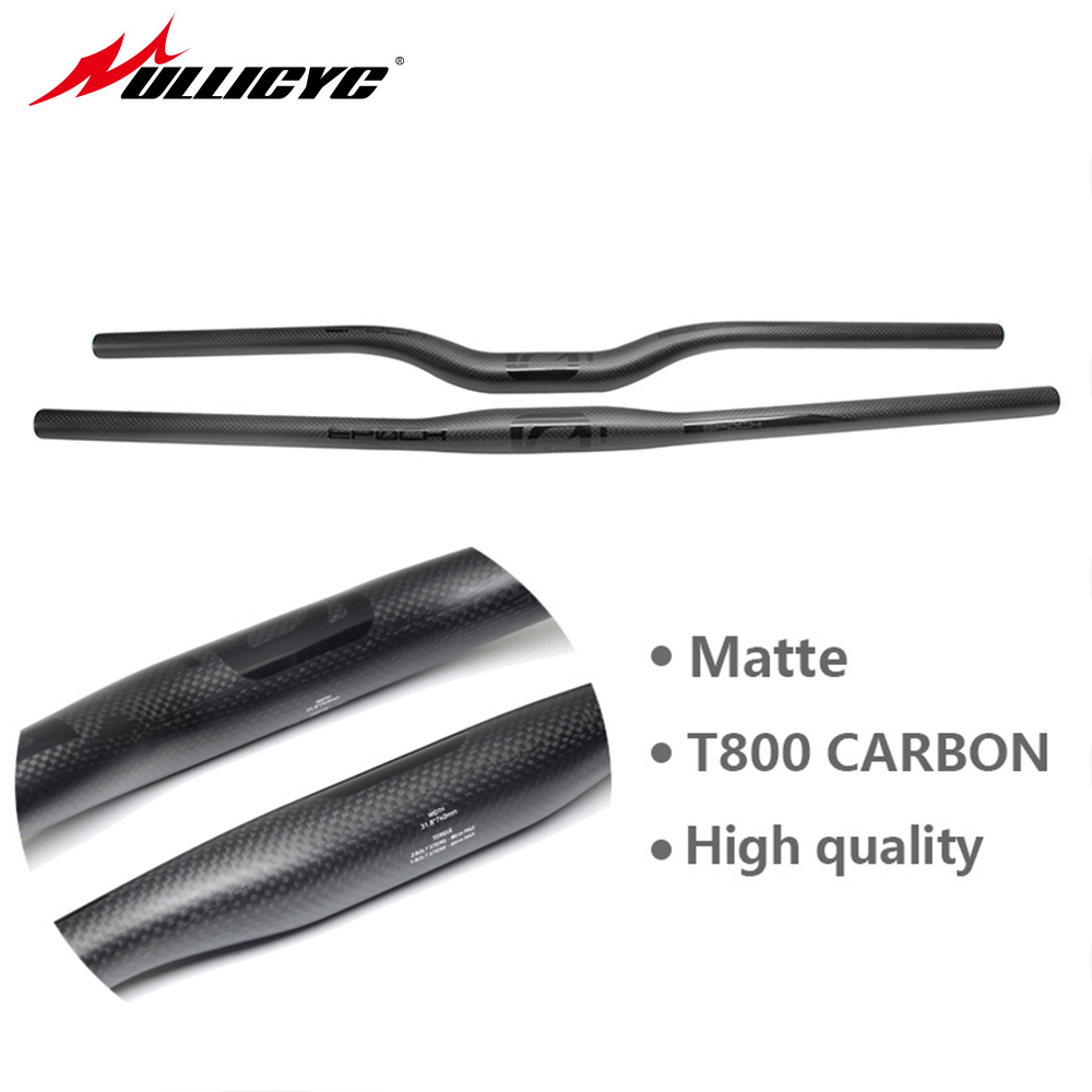 2017 Mountain bike 3K full carbon fibre flat Horizontal carbon bicycle handlebar MTB bike parts 31.8*580-720mm Free ship CB440