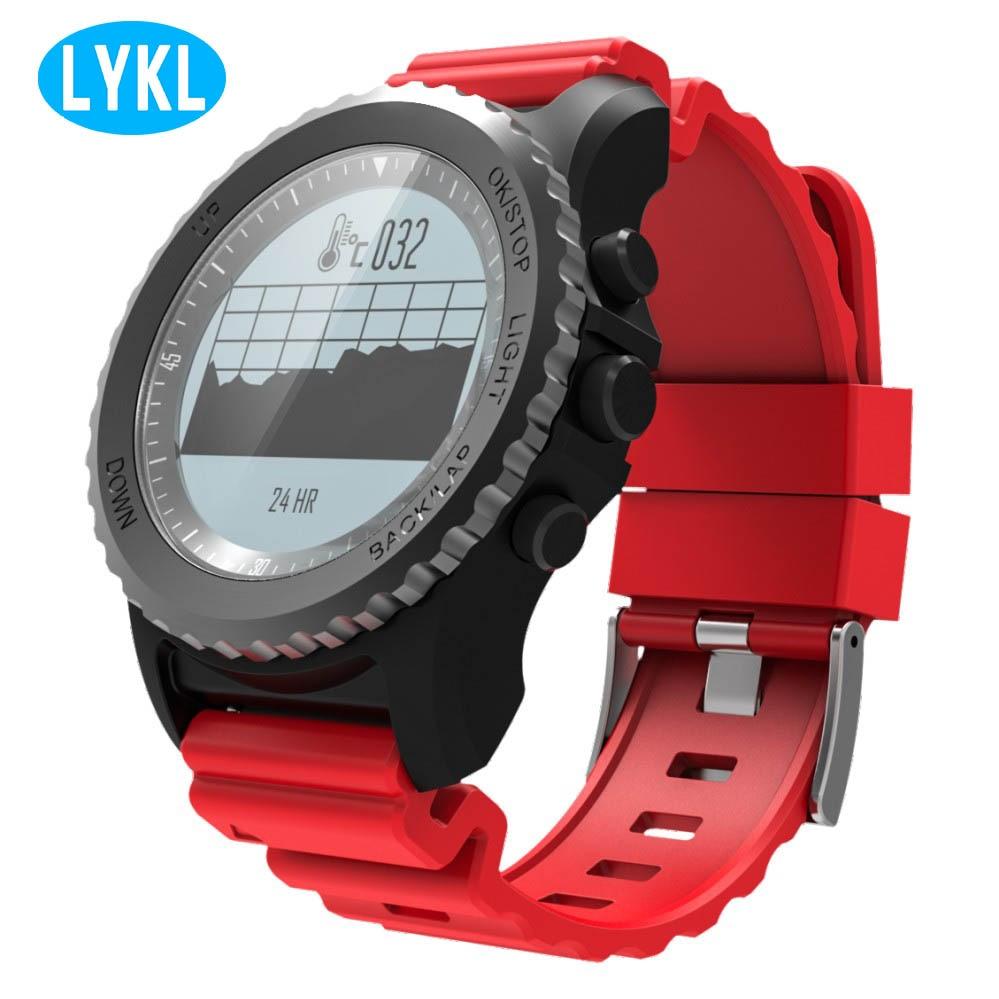 LYKL IP68 waterproof Bluetooth S968 smart watch support GPS air pressure fitness tracker heart rate monitoring smart bracelet