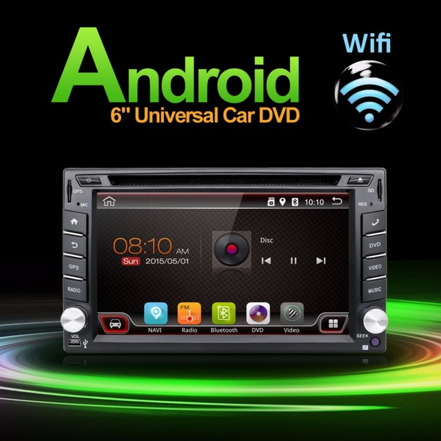 2 Din Car radio In Dash Android 4.4-CPU Double GPS Navi DVD Player Stereo Headunit Video BT Car PC CD WiFi 3G car parking