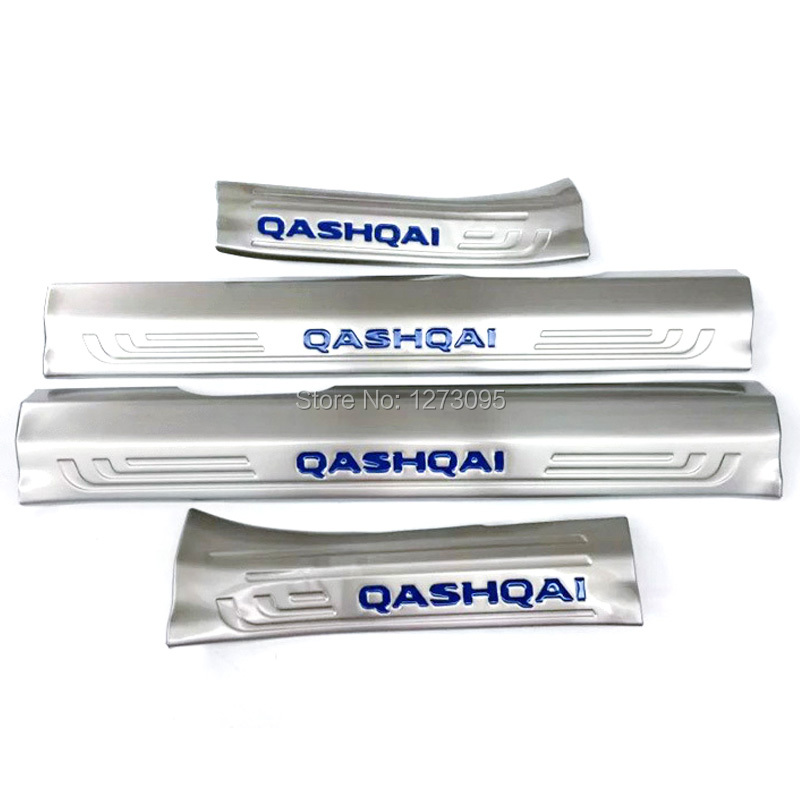 Stainless Steel Internal Door Sills Scuff Plate for 2016 Nissan Qashqai Threshold Strip Welcome Pedal Car Styling Accessories stainless steel led scuff plate door outside sills trim car accessories welcome pedal for ford kuga 2013 2014