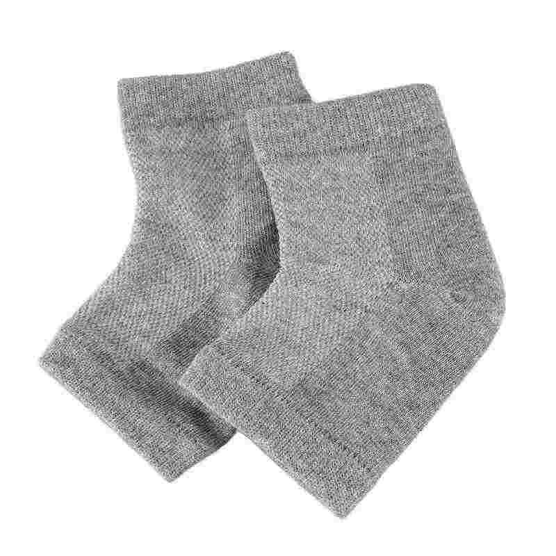 Ferse Socken Casual Ankle Socken Gel Mesh Dünne Atmungsaktive Socke Gel Schützen Ferse Anti-Slip Grau