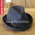 Шерсть Чувствовал Fedora Шляпы Для Женщин Chapeu Панама Шляпы Женский Необычные Джазовые Шляпы Бесплатная Доставка PWFR-069