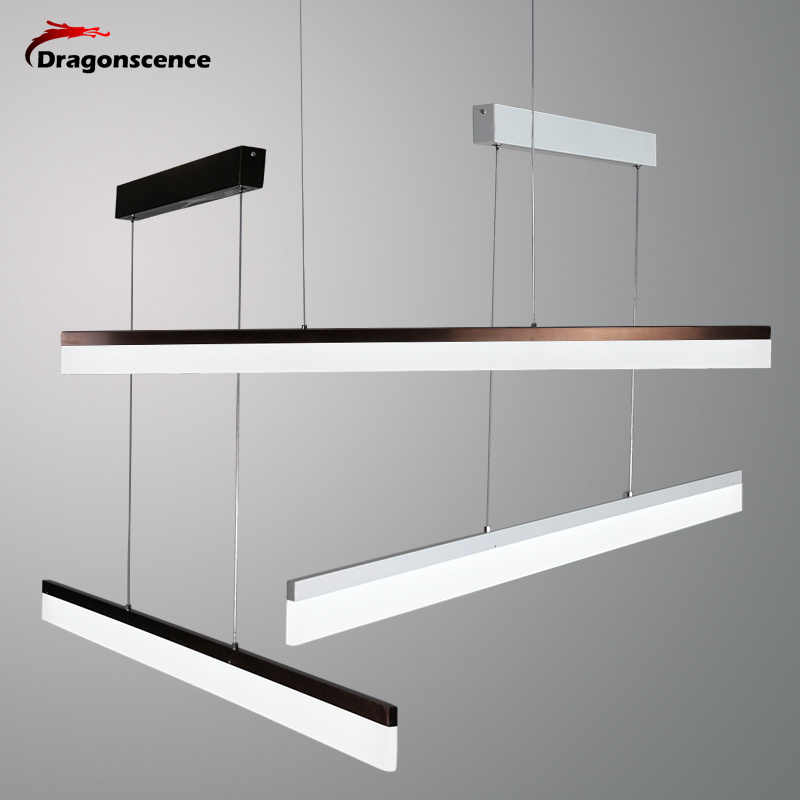 Dragonscence Modern LED Pendant Lights for Corridor Aisle Entrance Dining Room Living Room Long Strip Lamp Home Lighting Fixture