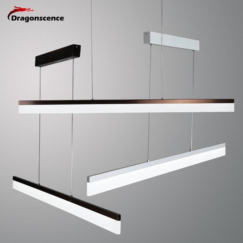 Dragonscence современный светодиодный подвесные светильники для коридор прохода вход Обеденная Гостиная длинная полоса лампы освещения дома пр...