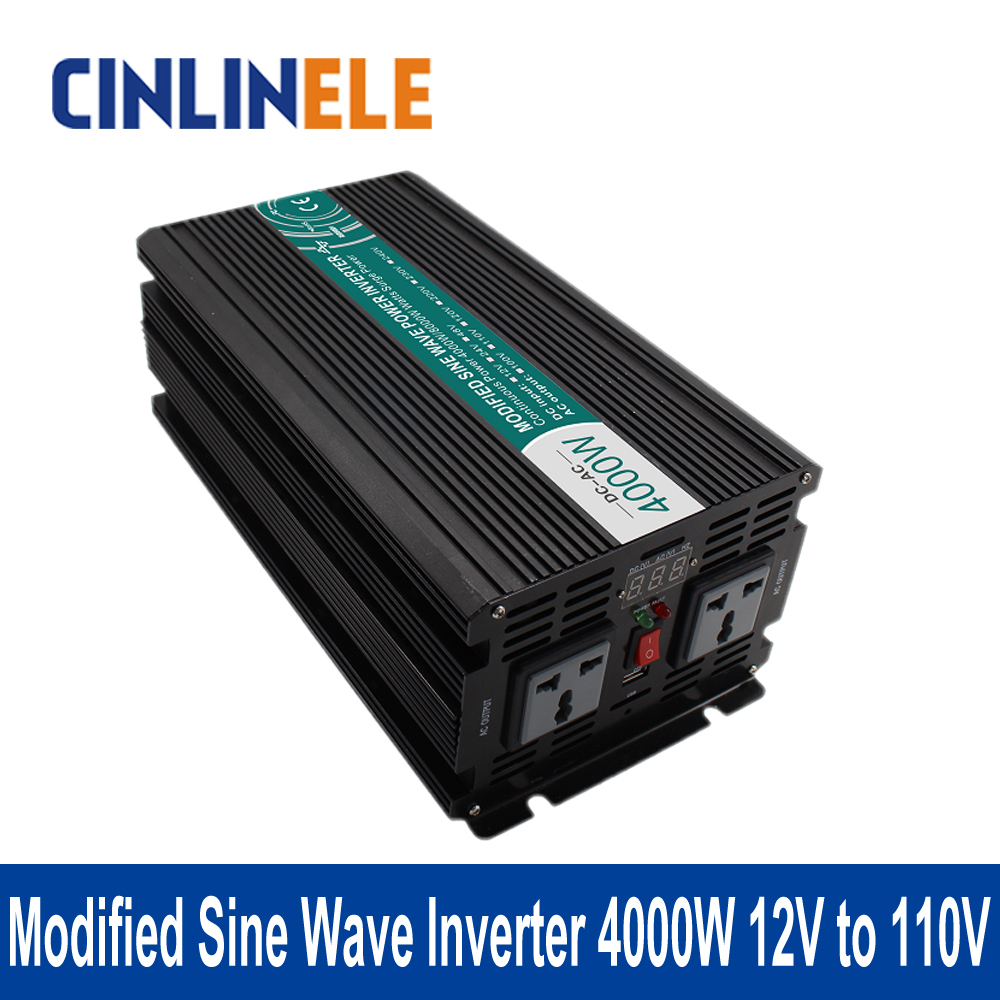Подробнее о Modified Sine Wave Inverter 4000W CLM4000A-121 DC 12V to AC 110V 4000W Surge Power 8000W Power Inverter 12V 110V 1200w 12v to 110v power inverter safe power inverter for home made in china modified sine wave 12v to 110v inverter 1200w