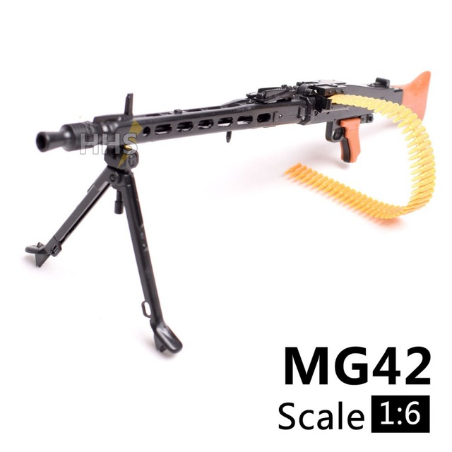 US $3 99 |1:6 1/6 Scale 12 inch Action Figures Accessories WWII MG42 Heavy  Machine Gun Toys 1/100 MG Bandai Gundam Accessory Model Can Use-in Action &