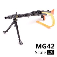 1:6 1/6 Scale 12 inch Action Figures Accessories WWII MG42 Heavy Machine Gun Toys 1/100 MG Bandai Gundam Accessory Model Can Use