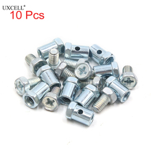 Uxcell 10Pcs 14mm x 8mm Phillips Head Screw Motorcycle Brake Cable Sol