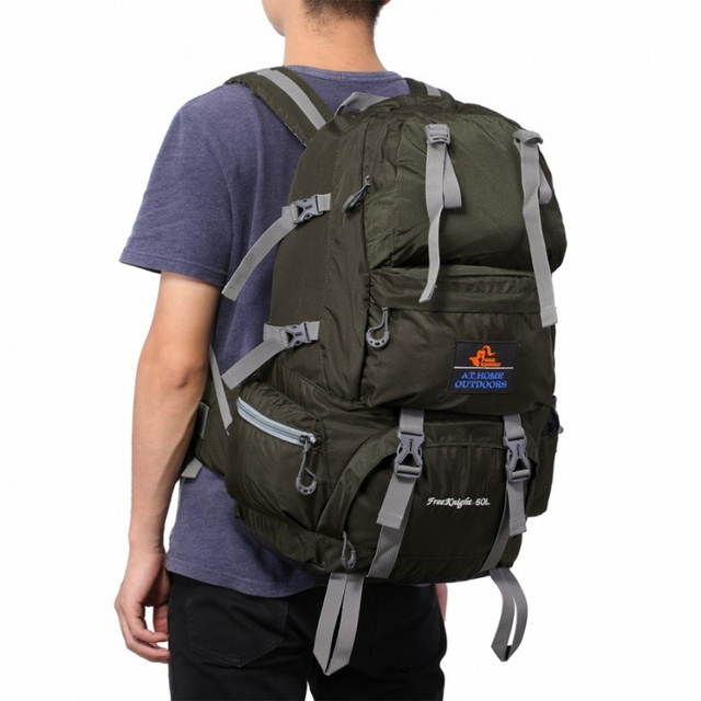 Free Knight 50L Outdoor Backpack Hiking Bag Camping Travel Water Resistant Pack Mountaineering