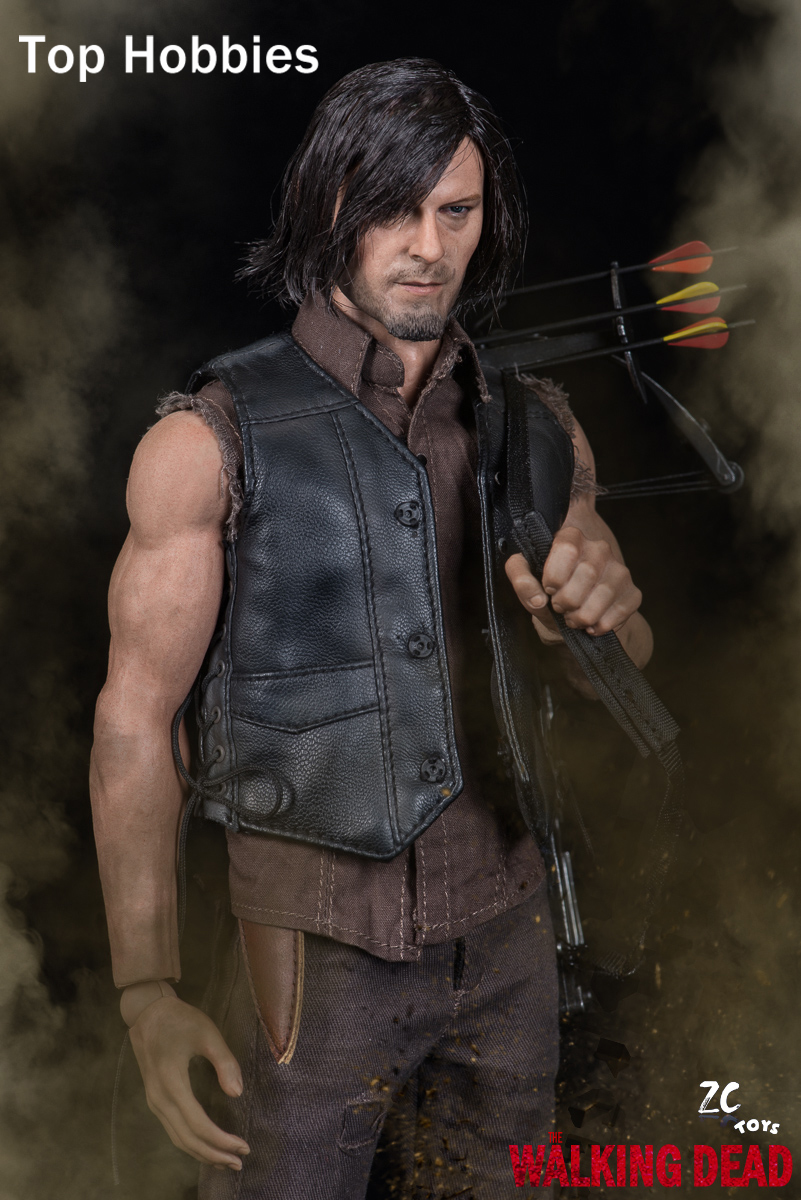 все цены на ZCTOYS 1/6 Zombie Shooter The Walking Dead Daryl Dixon con La Balestra Crossbow Suit 12