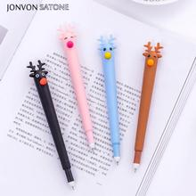 Jonvon Satone 1ps Creative Gel Pen Cute Korean Stationery Cartoon Neutral Pens Office Black School Tools Christmas Gifts