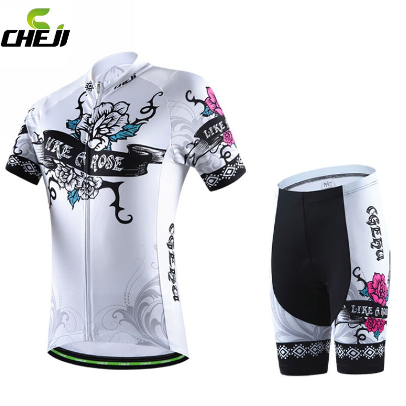 2016 Brand CHEJI Women Cycling Jerseys Breathable Bike Cycling Clothing Ropa Ciclismo/GEL Pad Quick-Dry Racing Bicycle Clothes malciklo team cycling jerseys women breathable quick dry ropa ciclismo short sleeve bike clothes cycling clothing sportswear