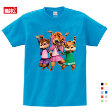girls baby clothes for summer New Brittany Eleanor Jeannette and The Chipmunks Boys Girls Tops Costume Alvin t-shirt